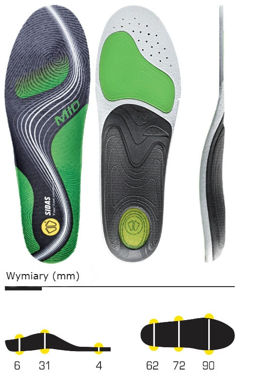 wkładki do butów sidas 3feet activ mid