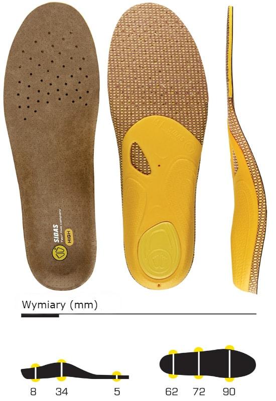 wkładki do butów sidas 3feet outdoor high