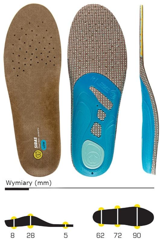 wkładki do butów sidas 3feet outdoor low